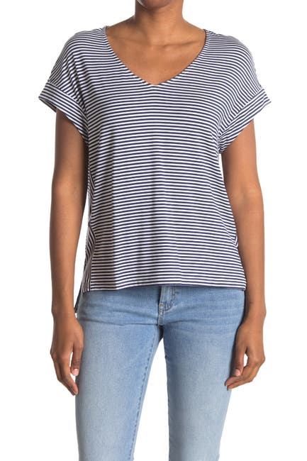 Image of Tommy Bahama Cassia Striped V-Neck Top