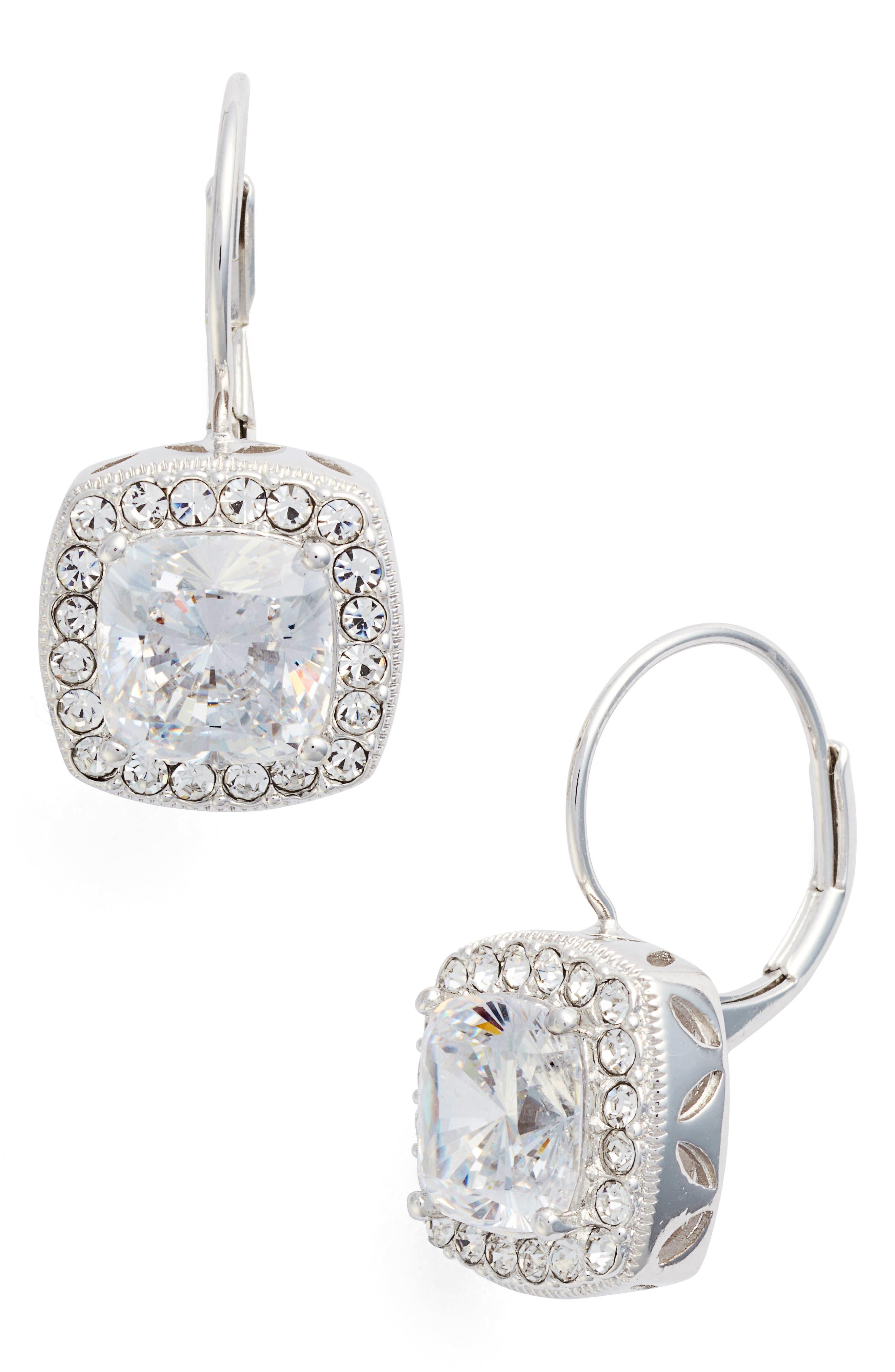 ,                             Cubic Zirconia Drop Earrings,                             Main thumbnail 1, color,                             040