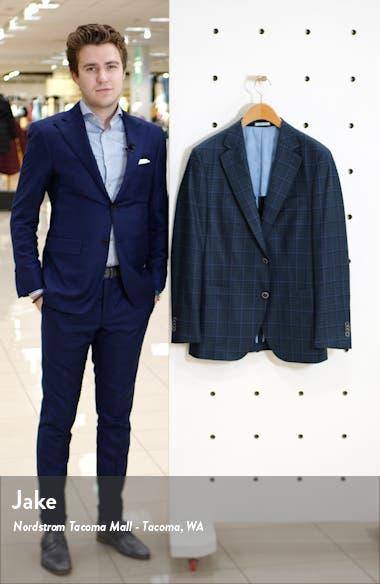 Classic Fit Windowpane Wool Sport Coat, sales video thumbnail