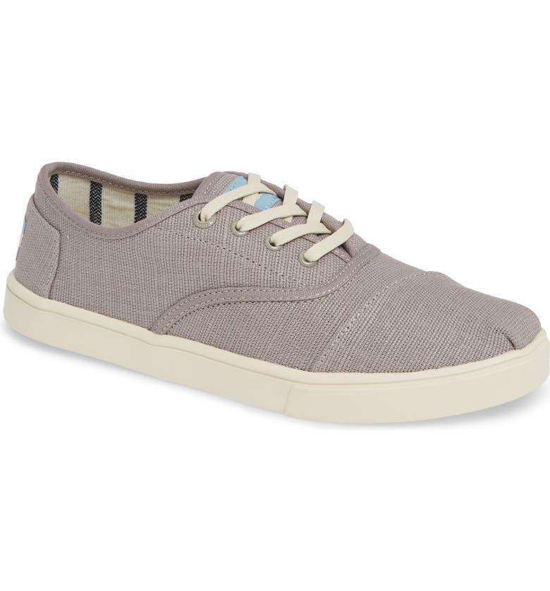 TOMS Cordones Sneaker, Main, color, MORNING DOVE HERITAGE CANVAS