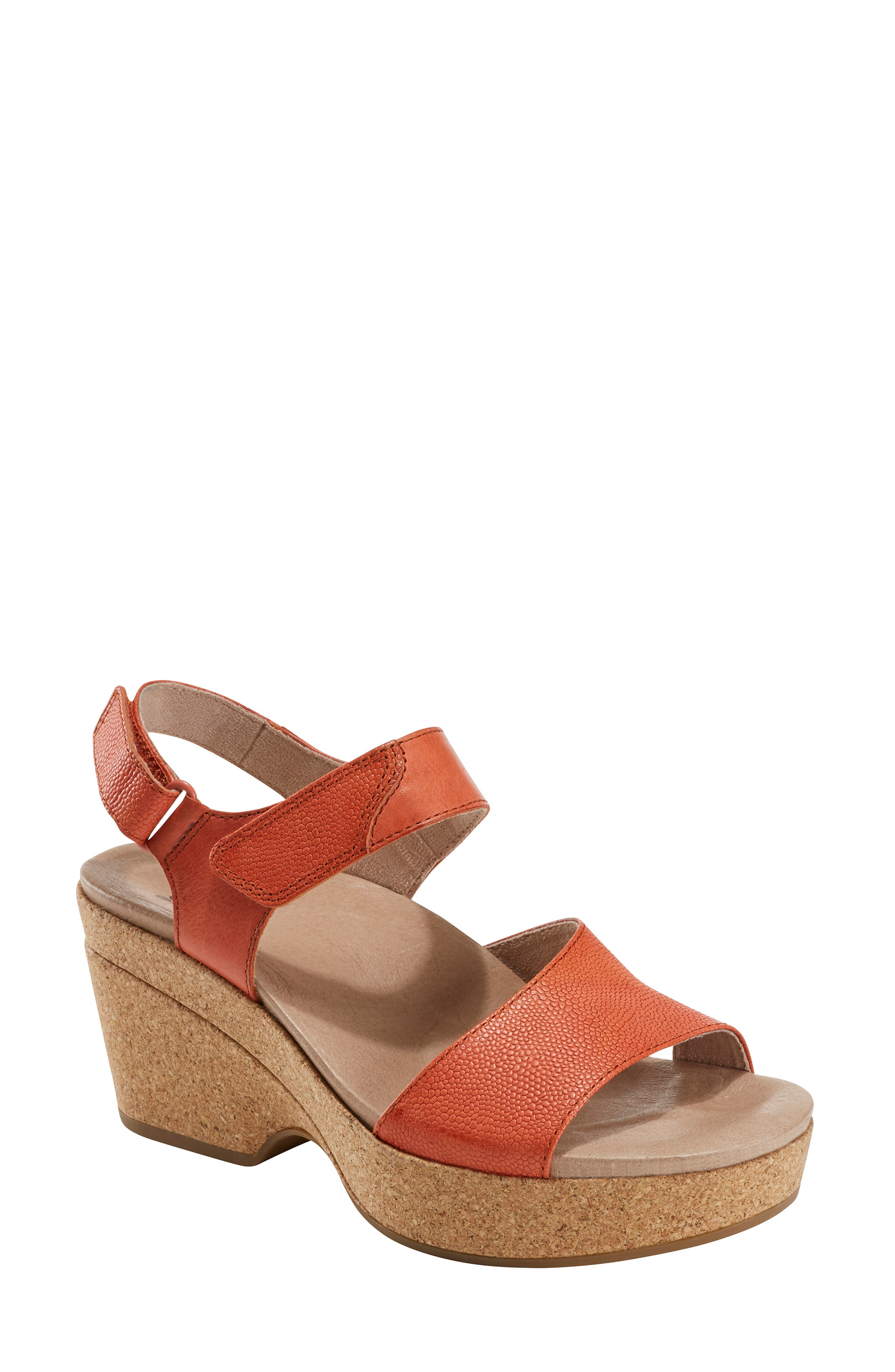 Richly grained leather straps add a dash of sophistication to a platform sandal set on a contoured, arch-supporting footbed. Style Name: Earth Kella Platform Sandal (Women). Style Number: 5782951. Available in stores.