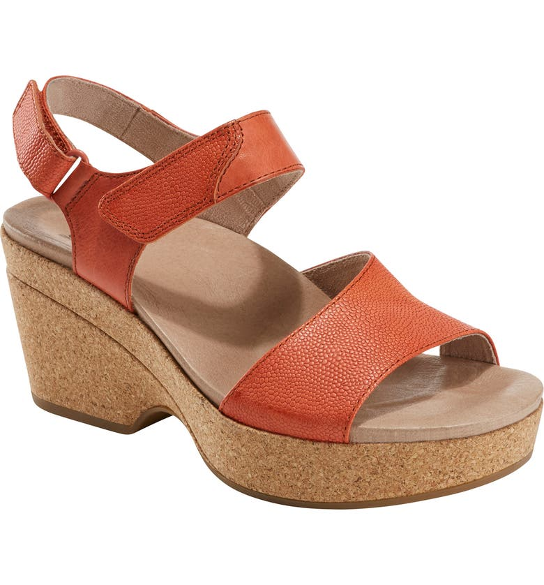 EARTH<SUP>®</SUP> Kella Platform Sandal, Main, color, ORANGE LEATHER