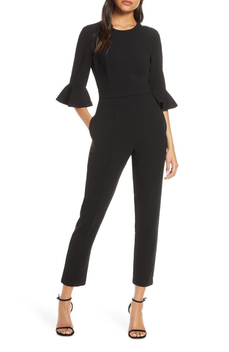 BLACK HALO Brooklyn Jumpsuit, Main, color, BLACK