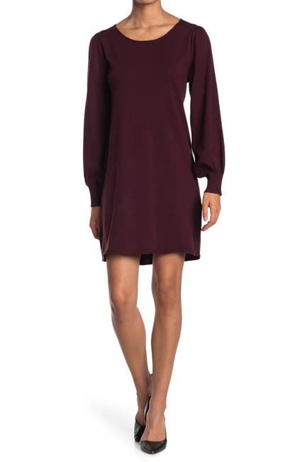 Image of Max Studio Long Sleeve A-Line Sweater Dress