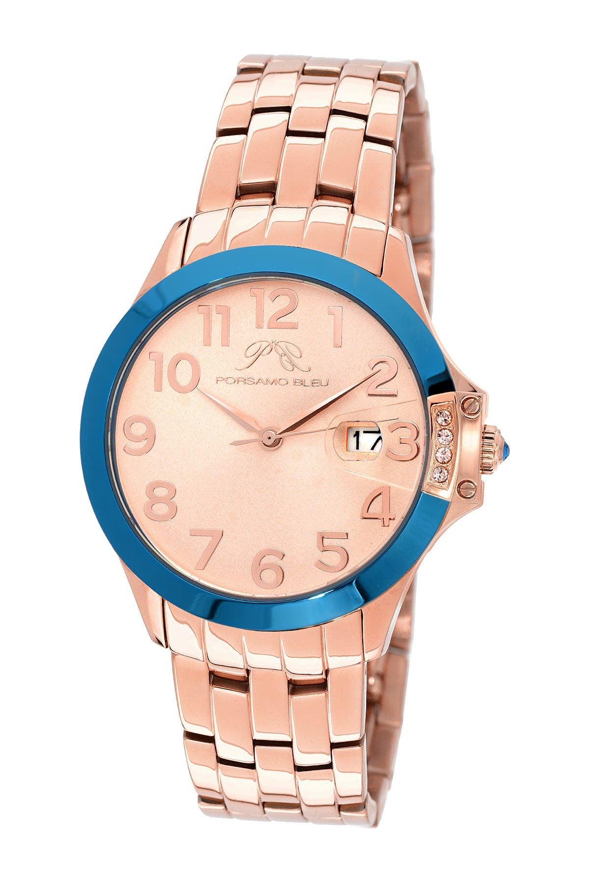 Image of Porsamo Bleu Women's Olivia Swarovski Crystal Accented Quartz Watch, 40mm