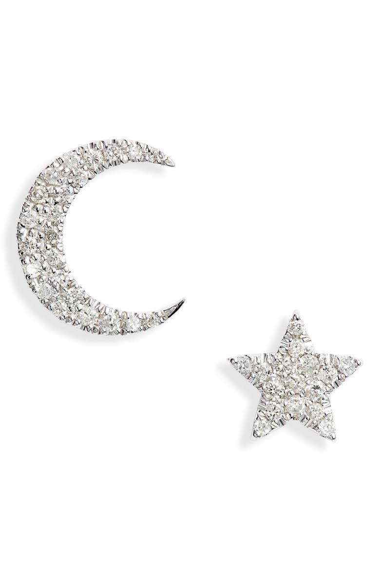 MEIRA T Mismatched Diamond Stud Earrings, Main, color, 711