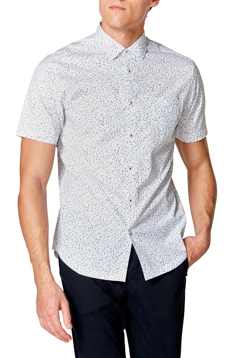 GOOD MAN BRAND On Point Slim Fit Short Sleeve Button-Up Shirt, Main, color, 122