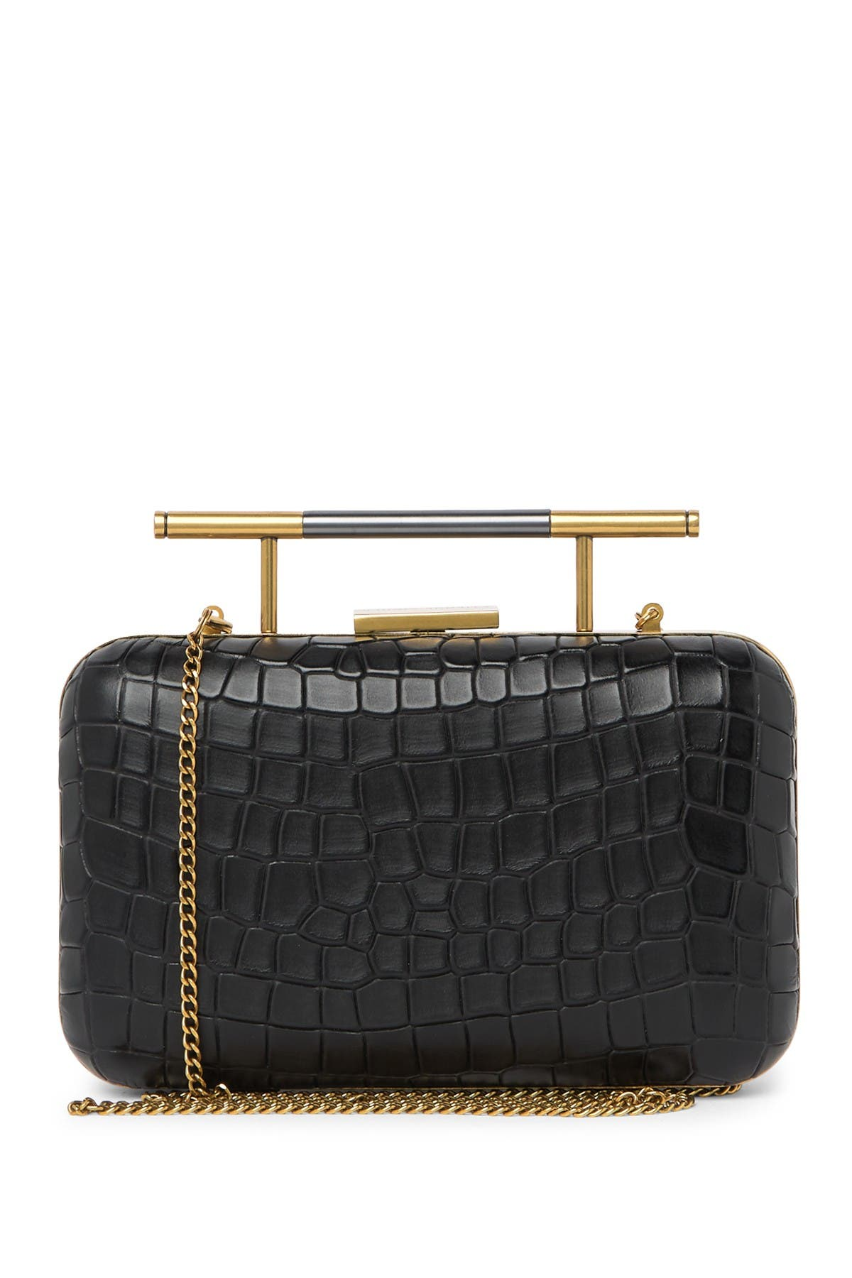 Image of Etienne Aigner Grace Croc Embossed Leather MInaudiere