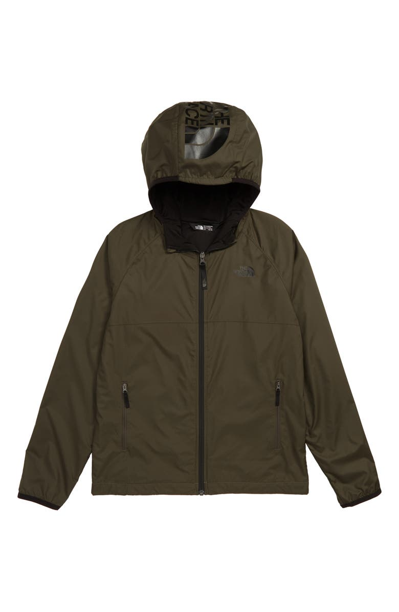 THE NORTH FACE Windy Crest Water Repellent Jacket, Main, color, TAUPE GREEN