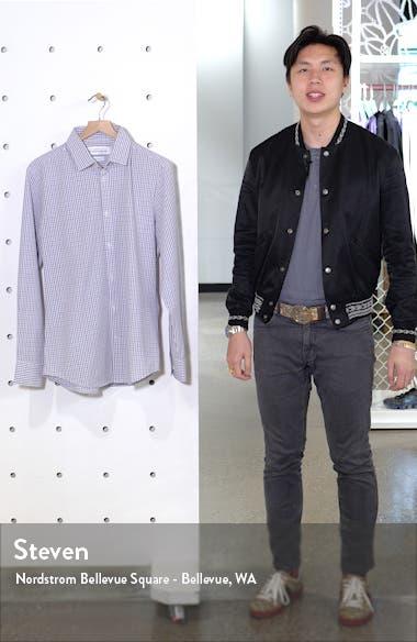 Easton Trim Fit Check Performance Button-Up Shirt, sales video thumbnail