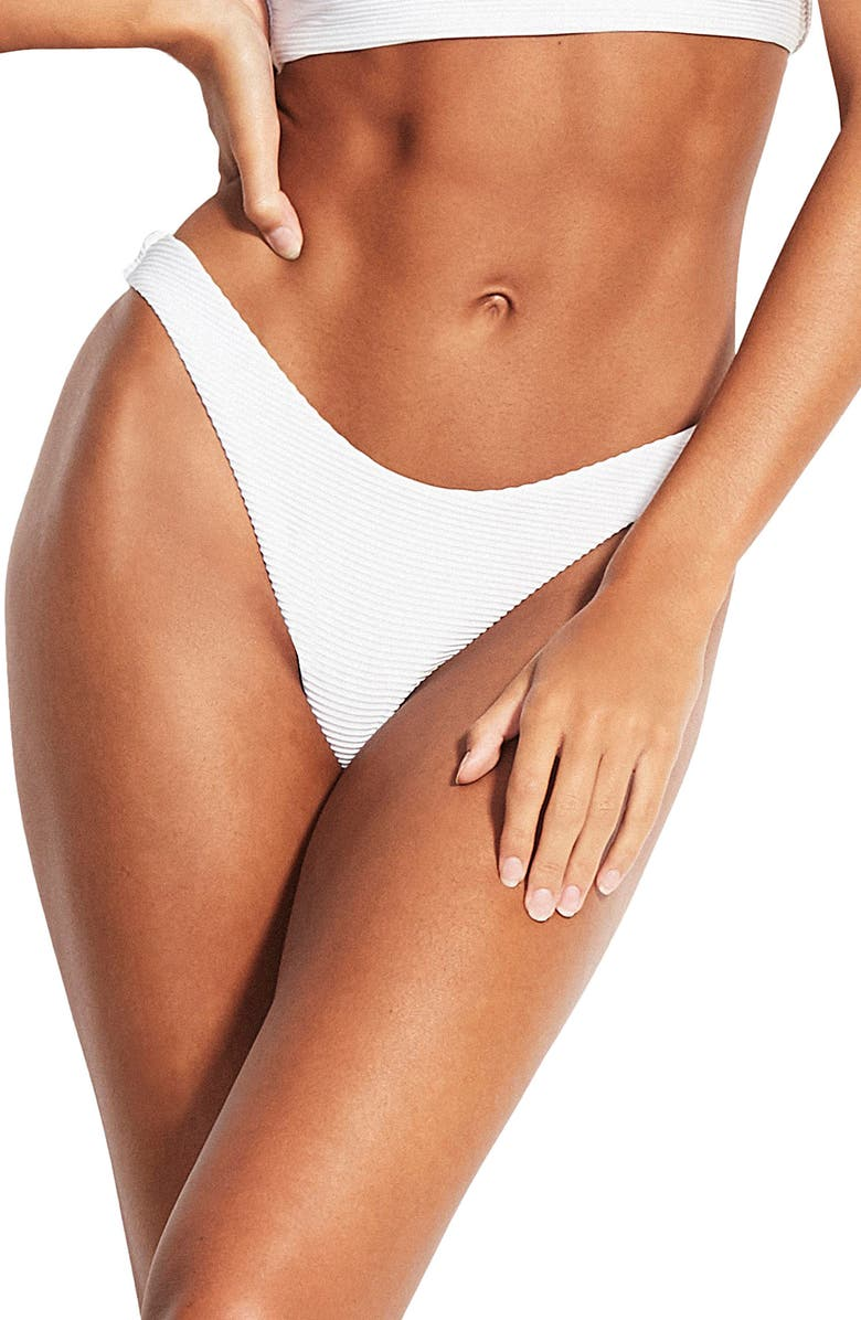 SEAFOLLY High-Cut Bikini Bottoms, Main, color, 142
