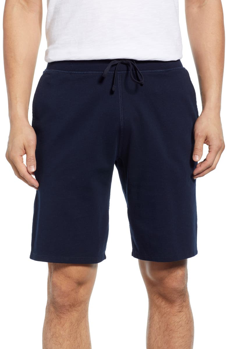 REIGNING CHAMP Fleece Athletic Shorts, Main, color, NAVY