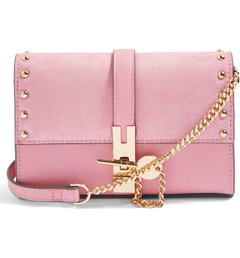 TOPSHOP Rhonda Keylock Crossbody Bag, Main, color, 650
