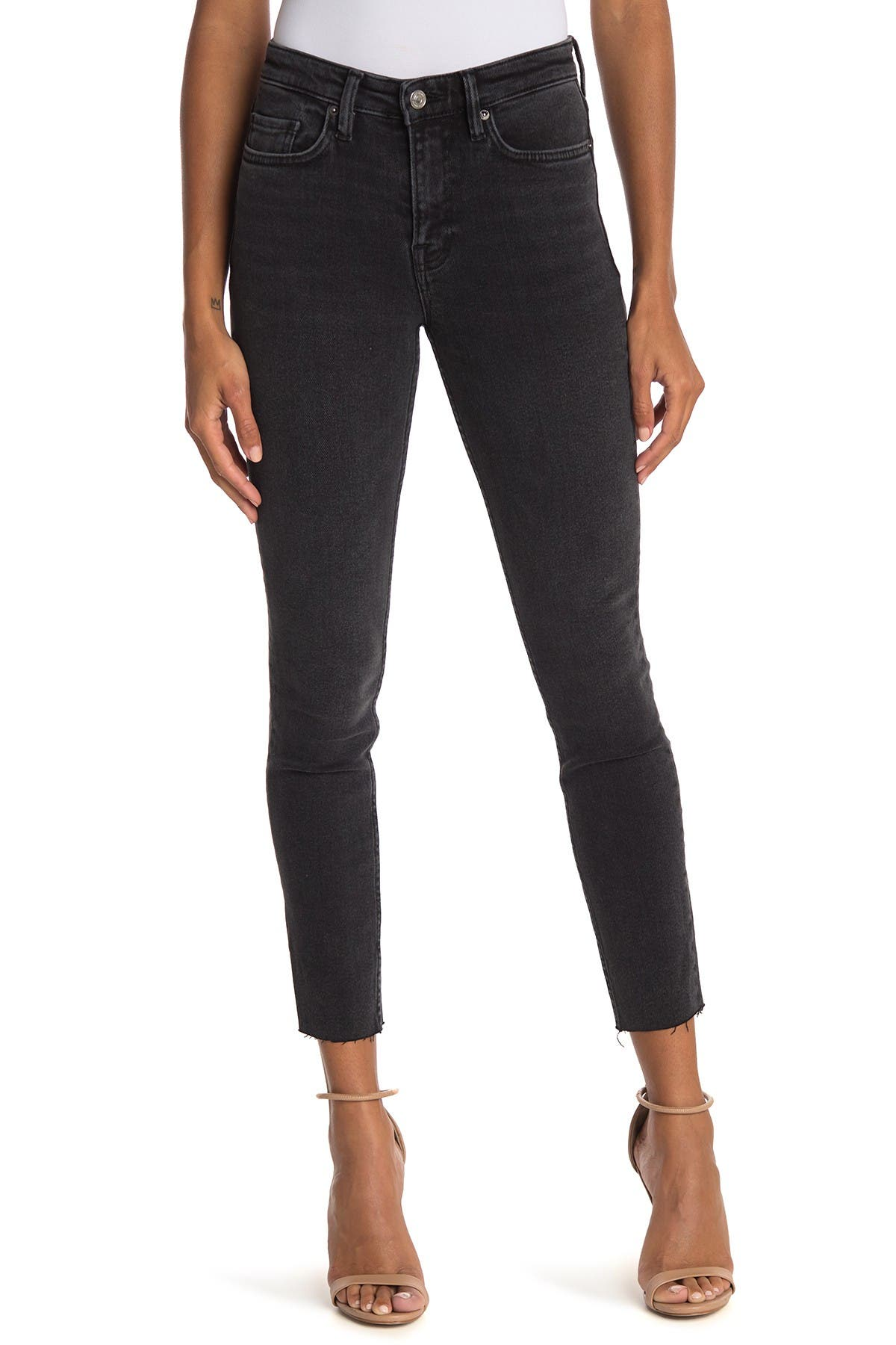 Image of ALLSAINTS Roxanne Raw Crop Skinny Jeans