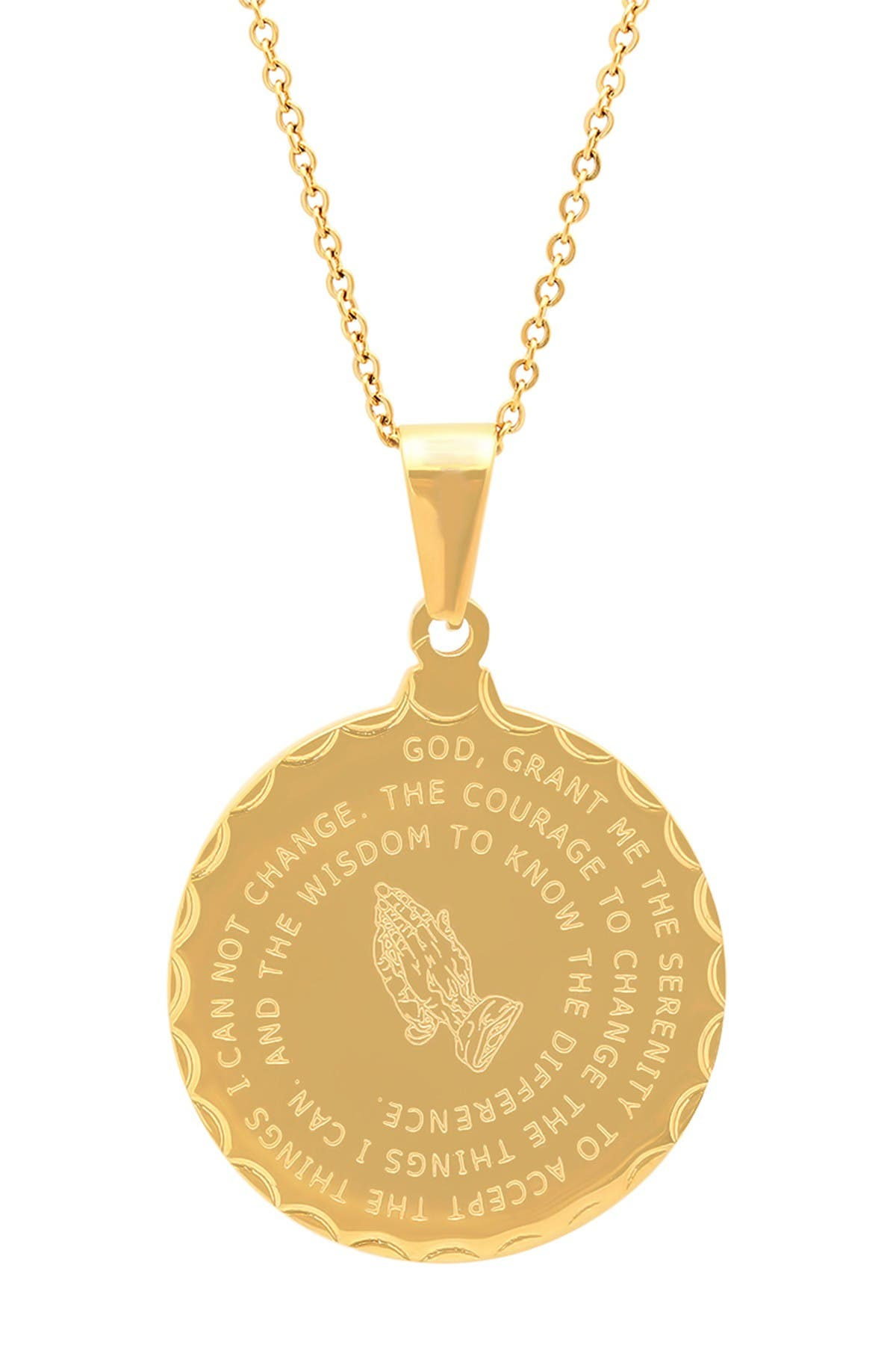 Image of HMY Jewelry Lord's Prayer & Serenity Prayer Necklace