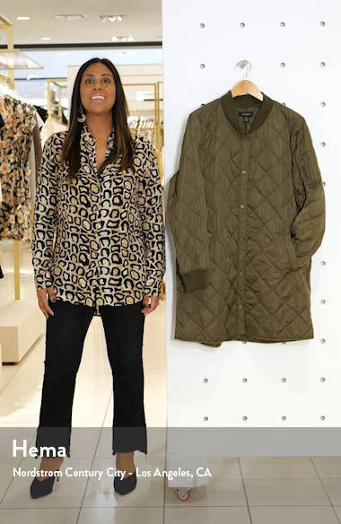 Quilted Bomber Coat, sales video thumbnail