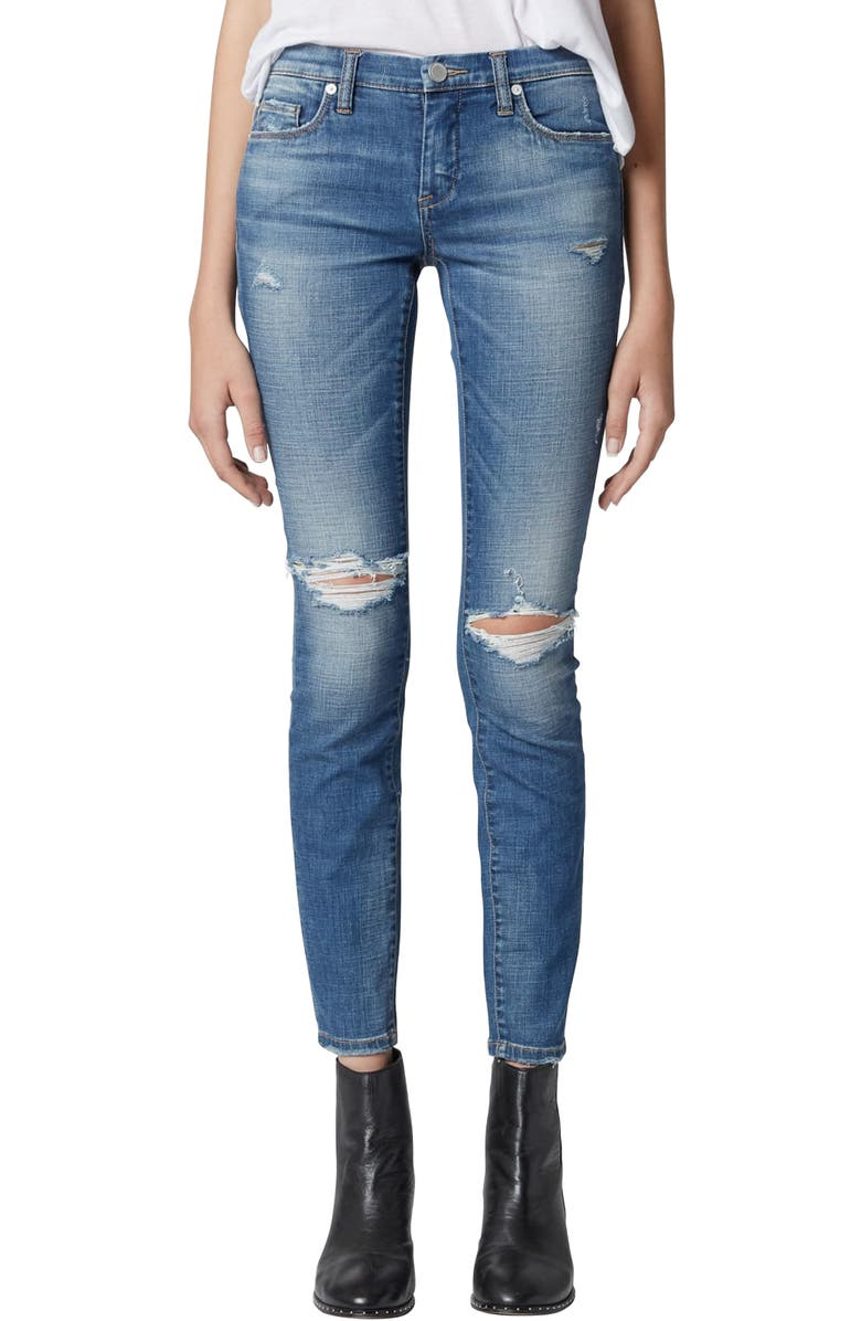 BLANKNYC The Reade Ripped Skinny Jeans, Main, color, 400