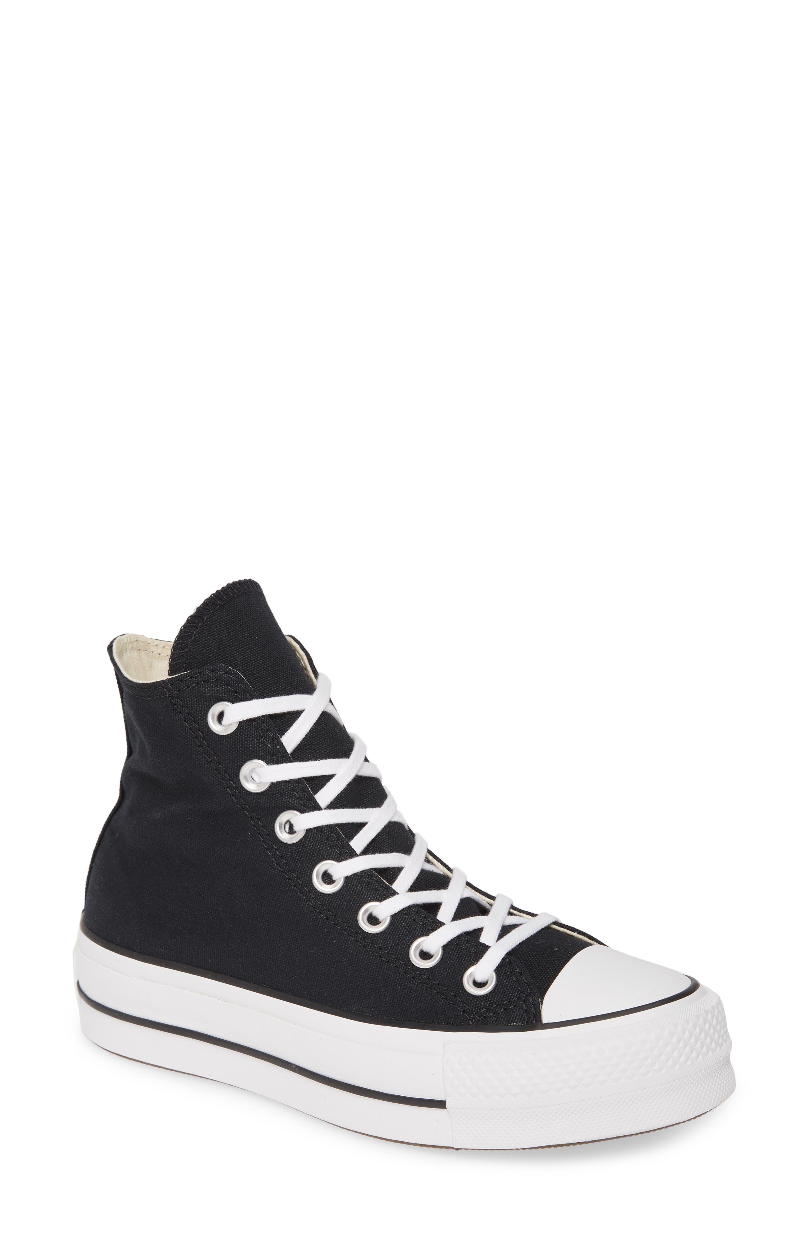 Converse Chuck Taylor All Star Lift High Top Platform Sneaker- Black