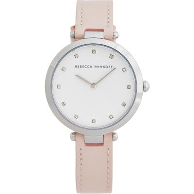 Rebecca Minkoff Nina Leather Strap Watch, 3m