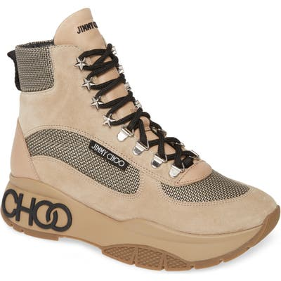Jimmy Choo Inca High Top Sneaker, Beige
