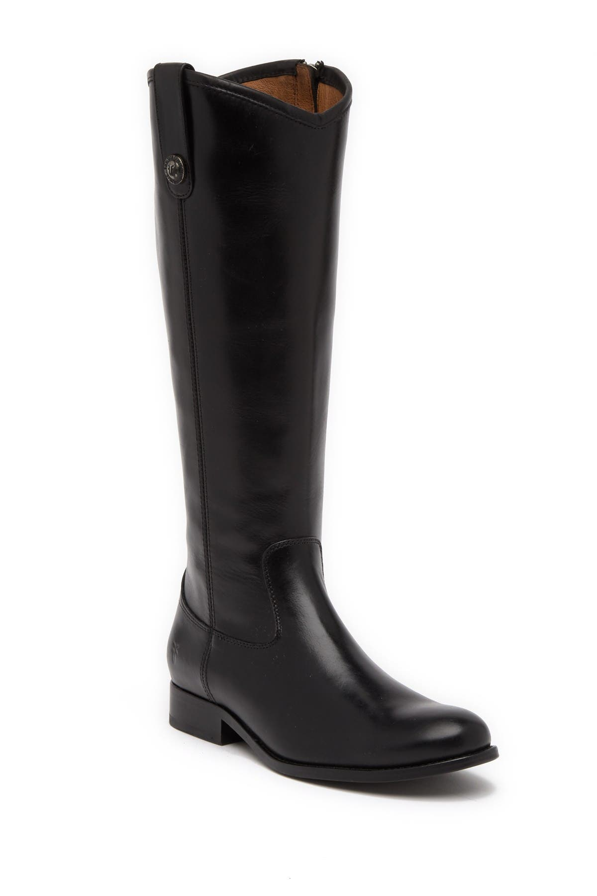 Melissa Button Inside Zip Leather Boot