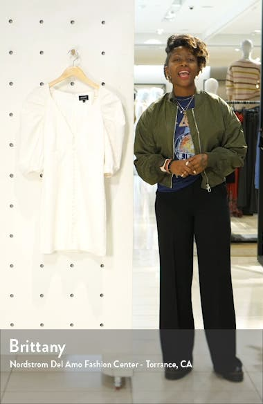 Marnie Puff Sleeve Cloqué Mindress, sales video thumbnail