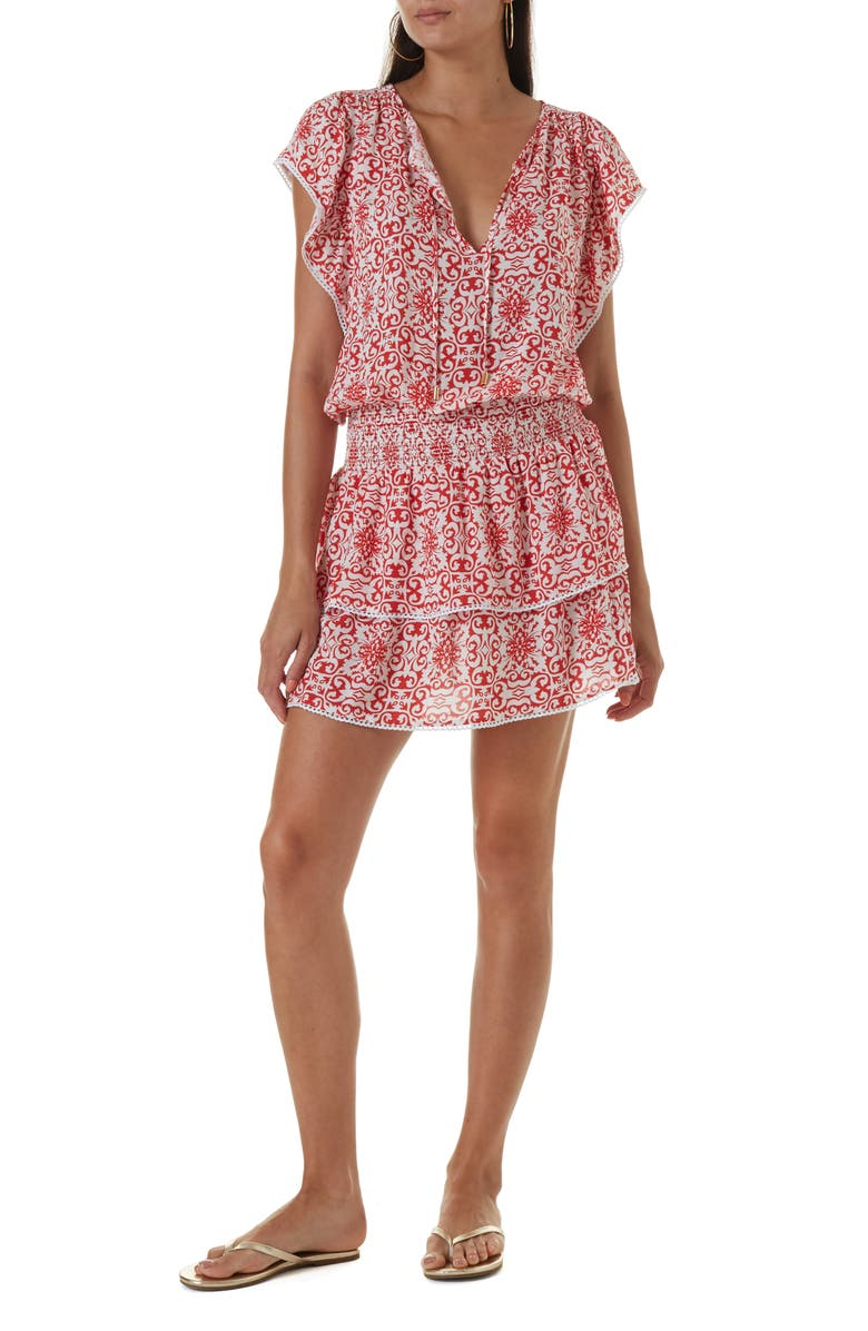 MELISSA ODABASH Keri Cover-Up Dress, Main, color, 600