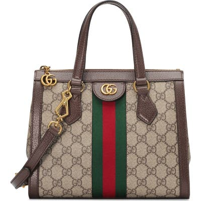Gucci Small Canvas Satchel - Beige