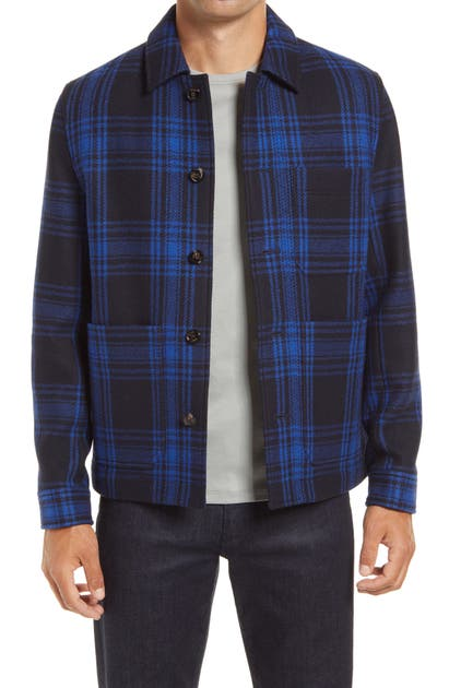 Ted Baker RIFT PLAID WOOL BLEND SHIRT JACKET