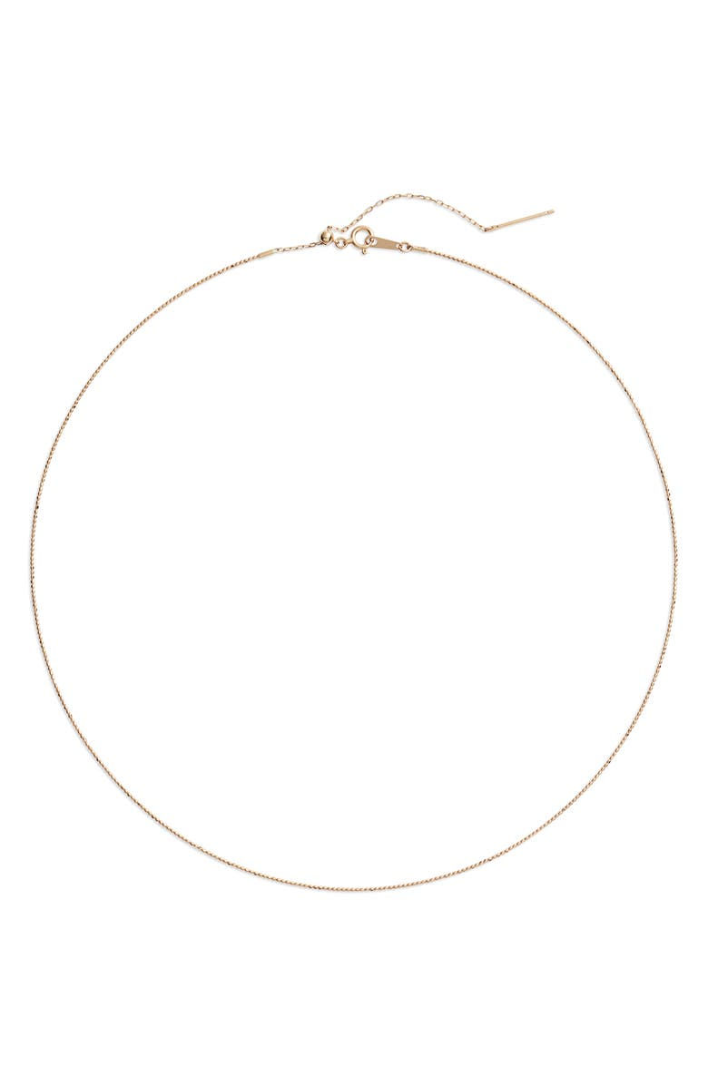 POPPY FINCH Choker Necklace, Main, color, YELLOW GOLD/ PEARL