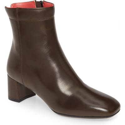 Pas De Rouge Chantal Leather Bootie - Brown