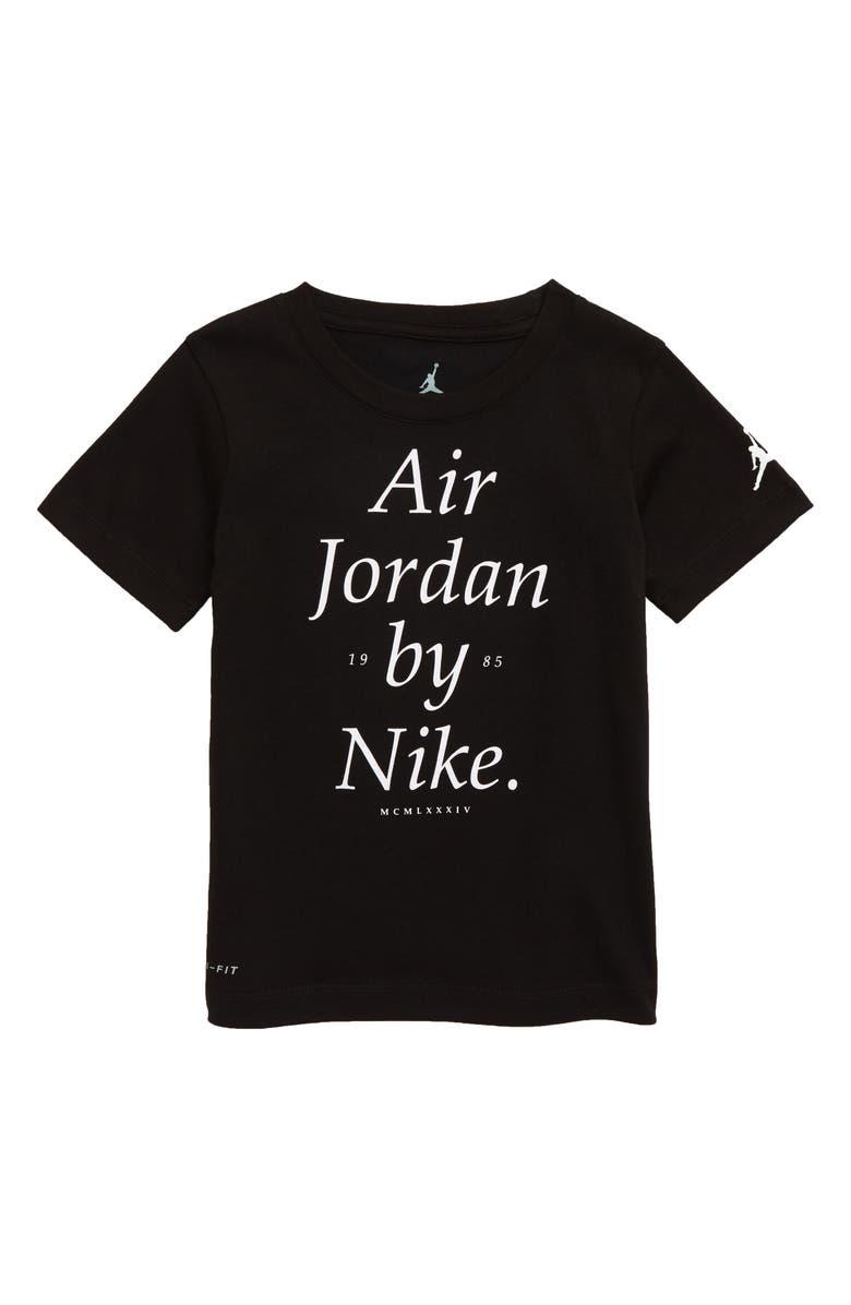 JORDAN Dri-FIT AJ Graphic T-Shirt, Main, color, BLACK