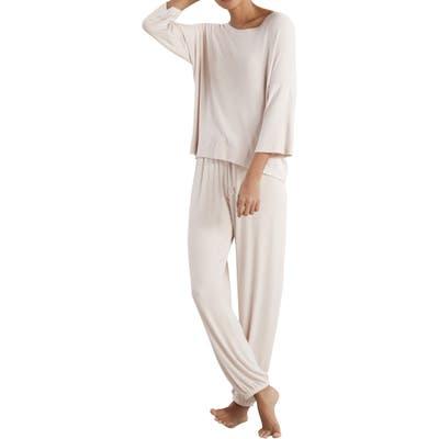 The White Company Ribbed Pajamas, Pink