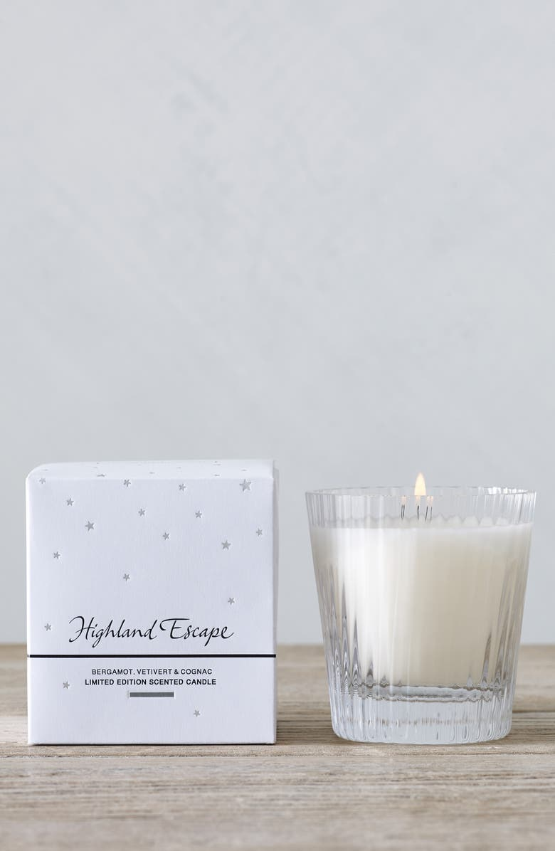 THE WHITE COMPANY Highland Escape Candle, Main, color, WHITE