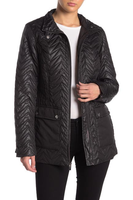 Image of Via Spiga Quilted Cargo Jacket