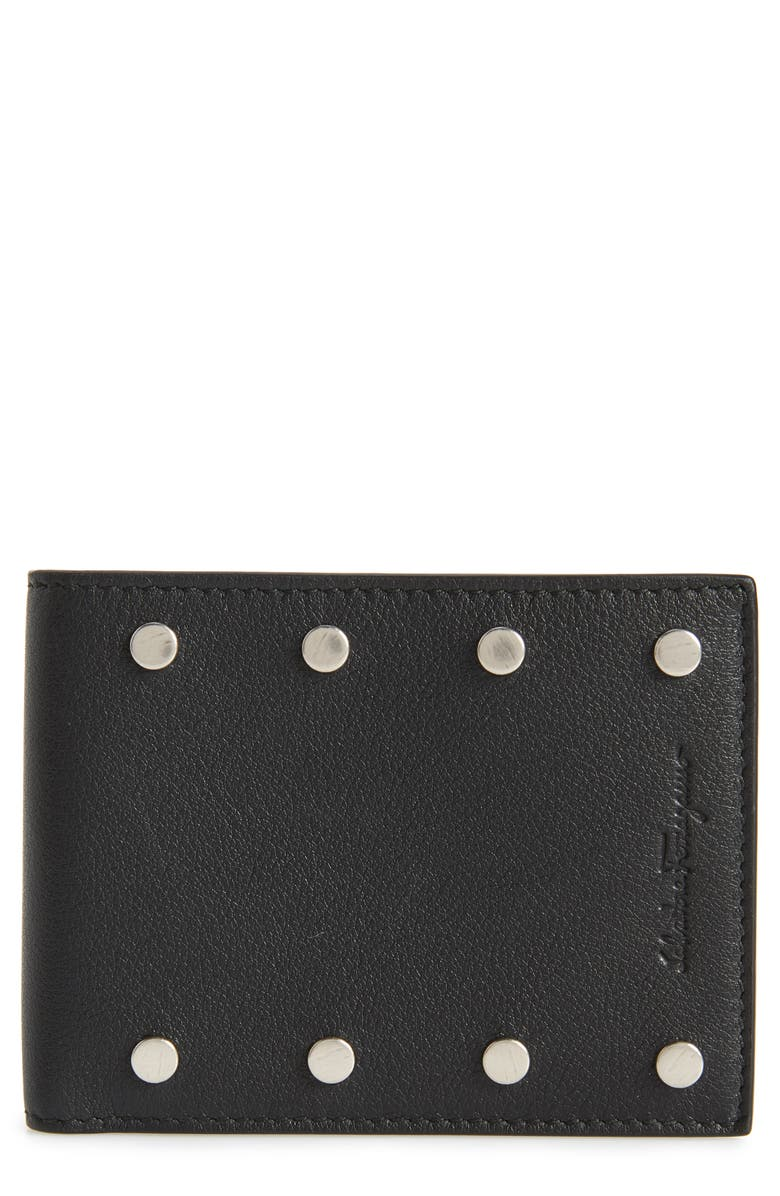 Salvatore Ferragamo Studded Leather Wallet