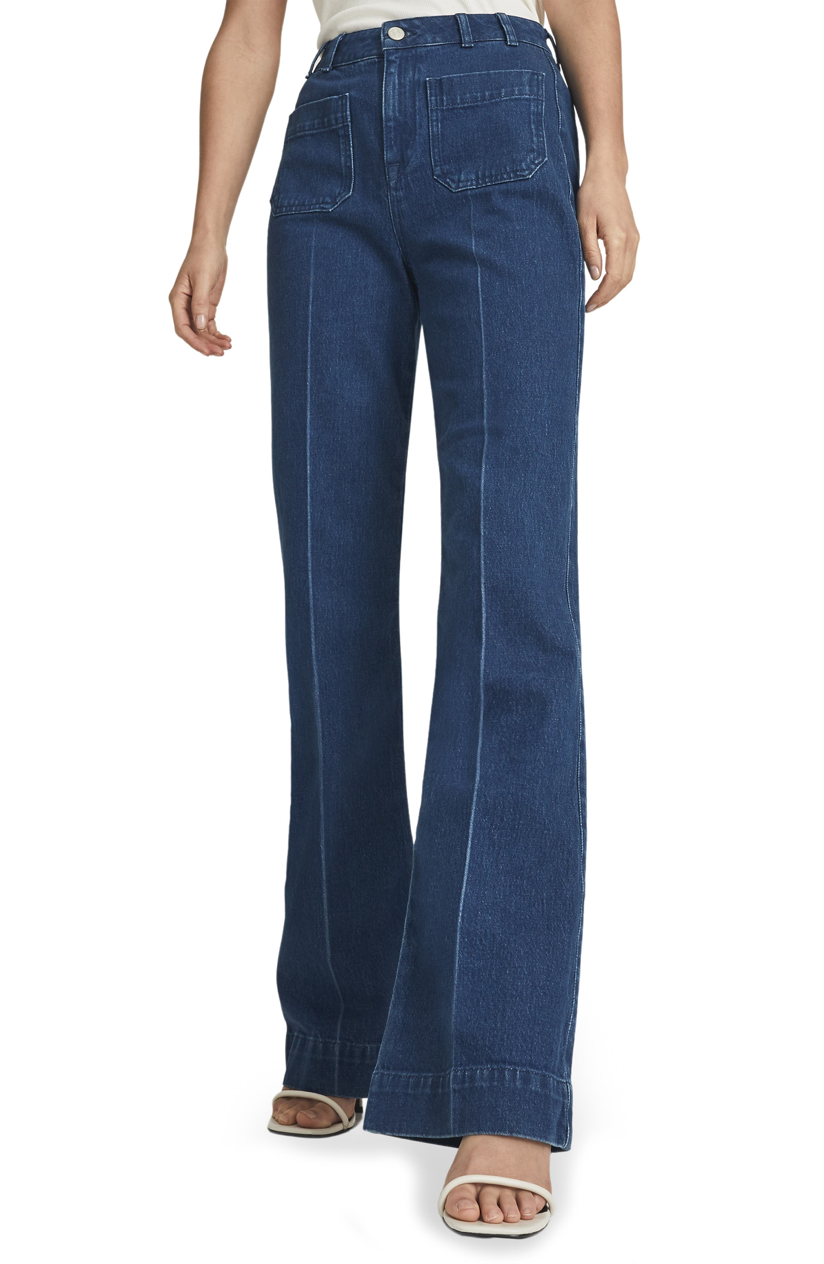 Women's Reiss Isa Wide Leg Trouser Jeans