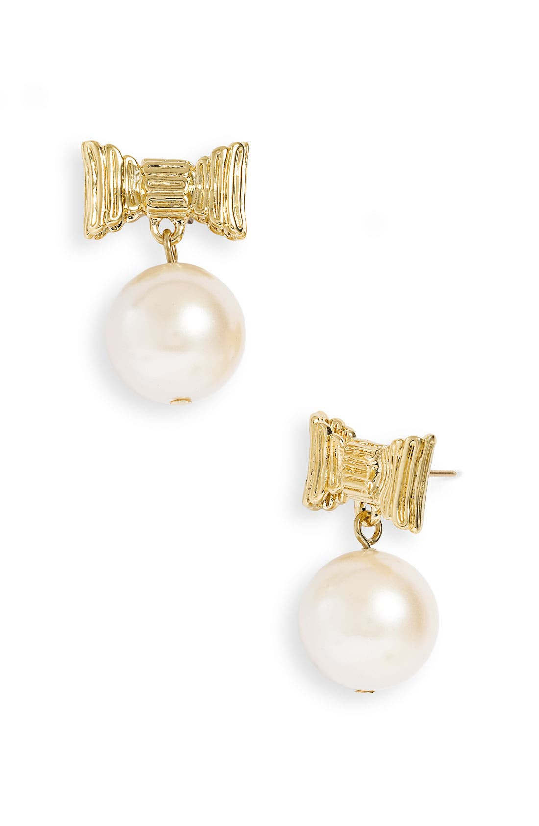 'all wrapped up' glass pearl earrings, Main, color, 900