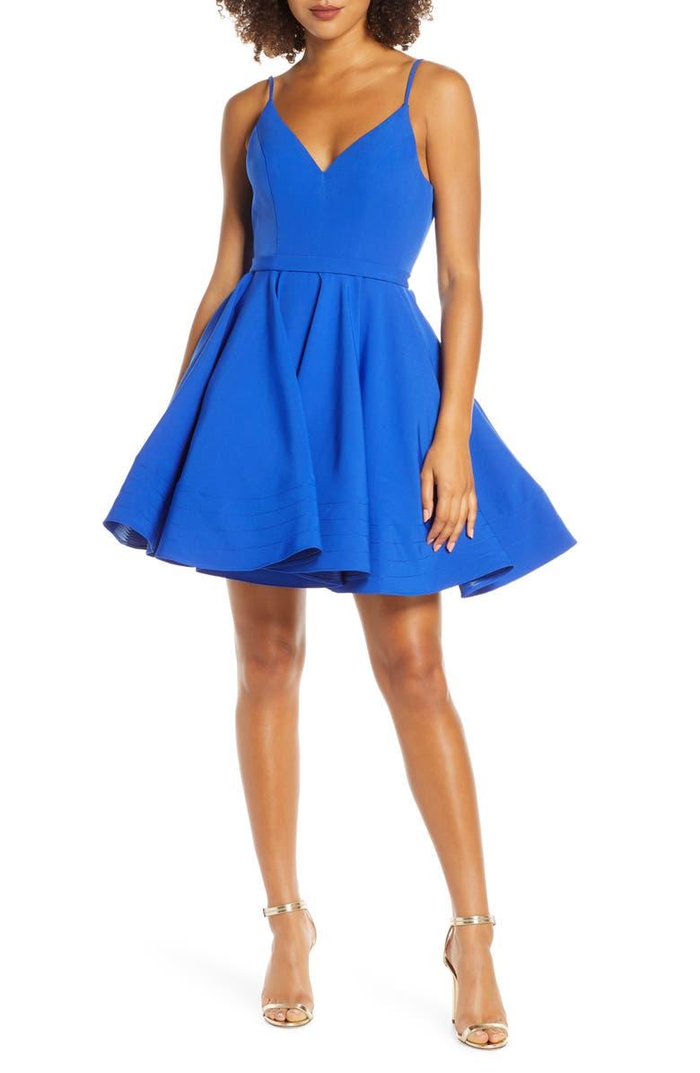 f02c740cd Mac Duggal Fit & Flare Party Dress, Main, color, ROYAL