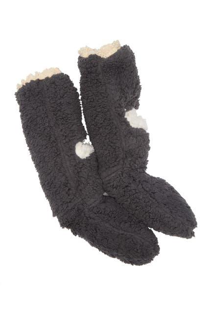 Image of Minx NY Lace Hidden Plush Pocket Socks - Gray
