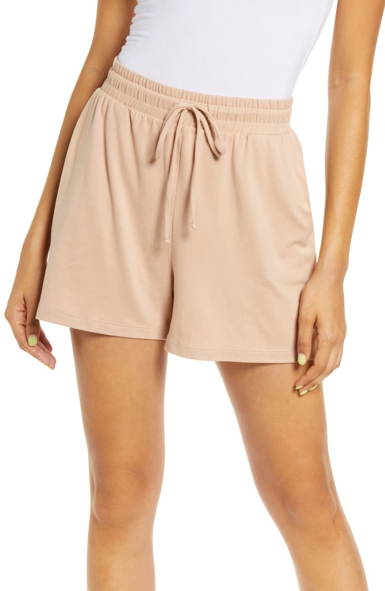 SOCIALITE Supersoft Pajama Shorts, Main, color, TOASTED ALMOND