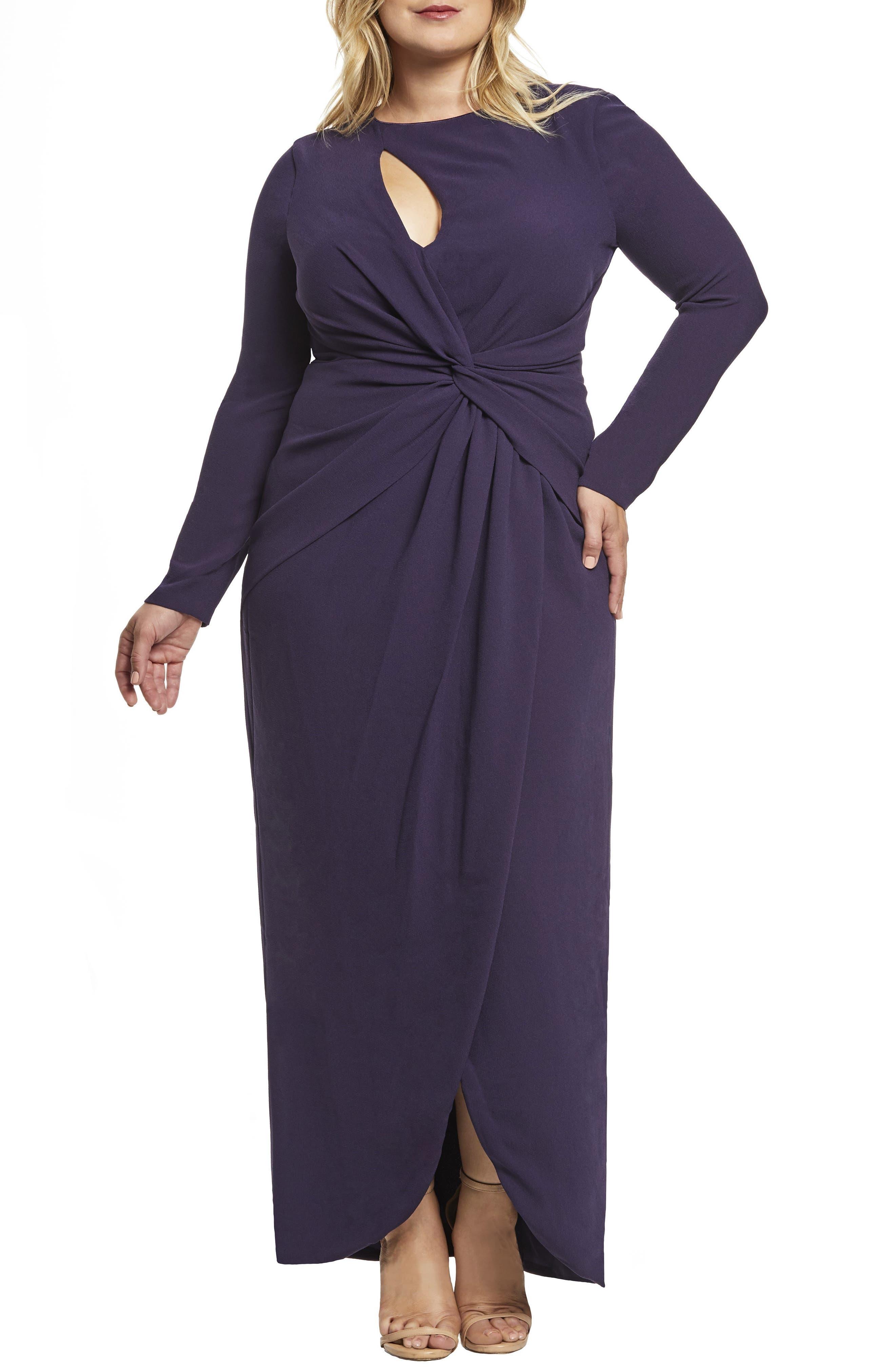 Plus Size Dress The Population Naomi Twist Gown