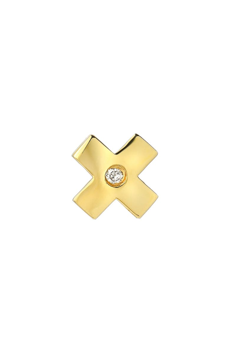 MINI MINI JEWELS Forever Collection - X Diamond Stud Earring, Main, color, YELLOW GOLD