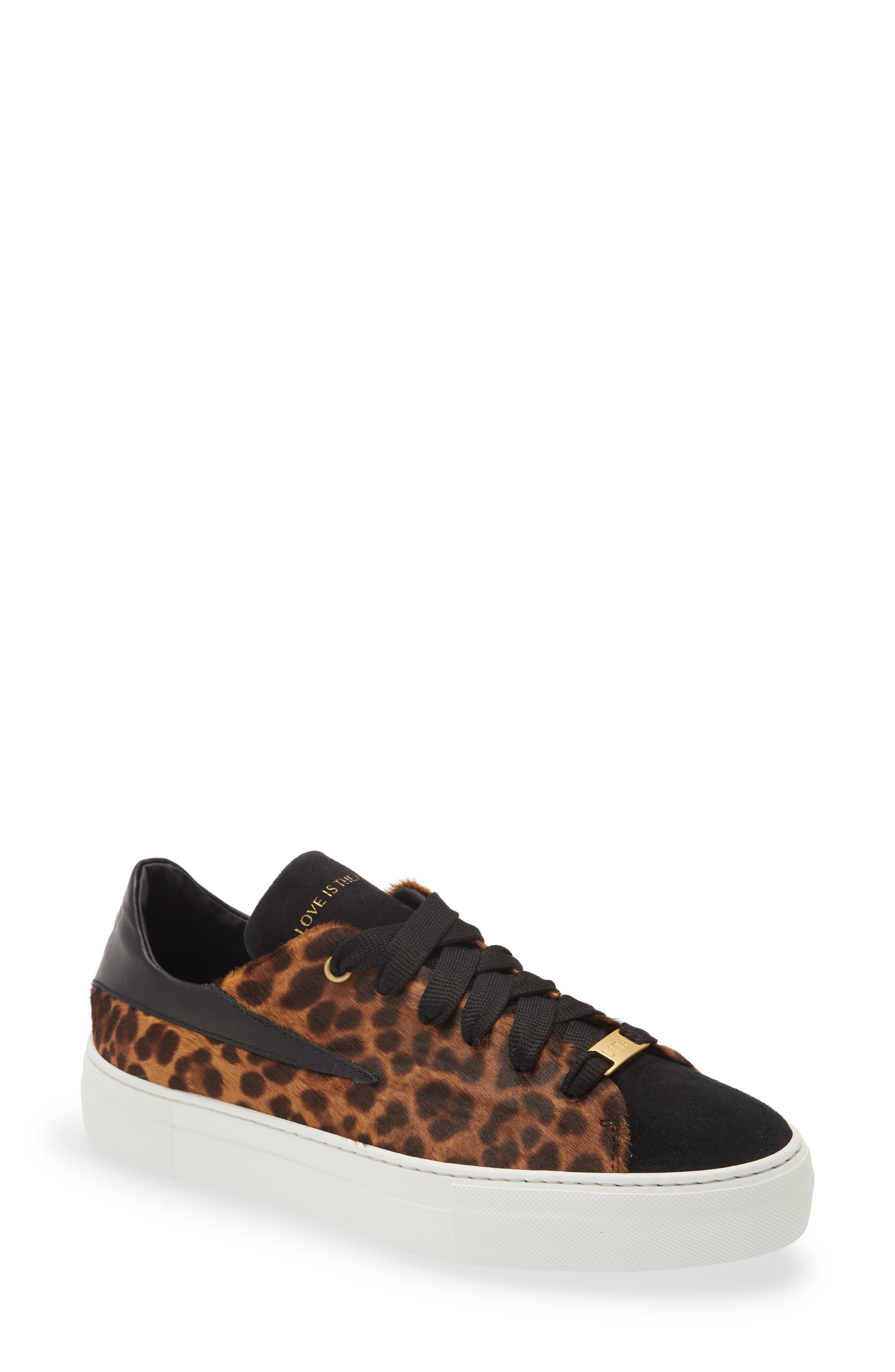 Fang Genuine Calf Hair Low Top Sneaker
