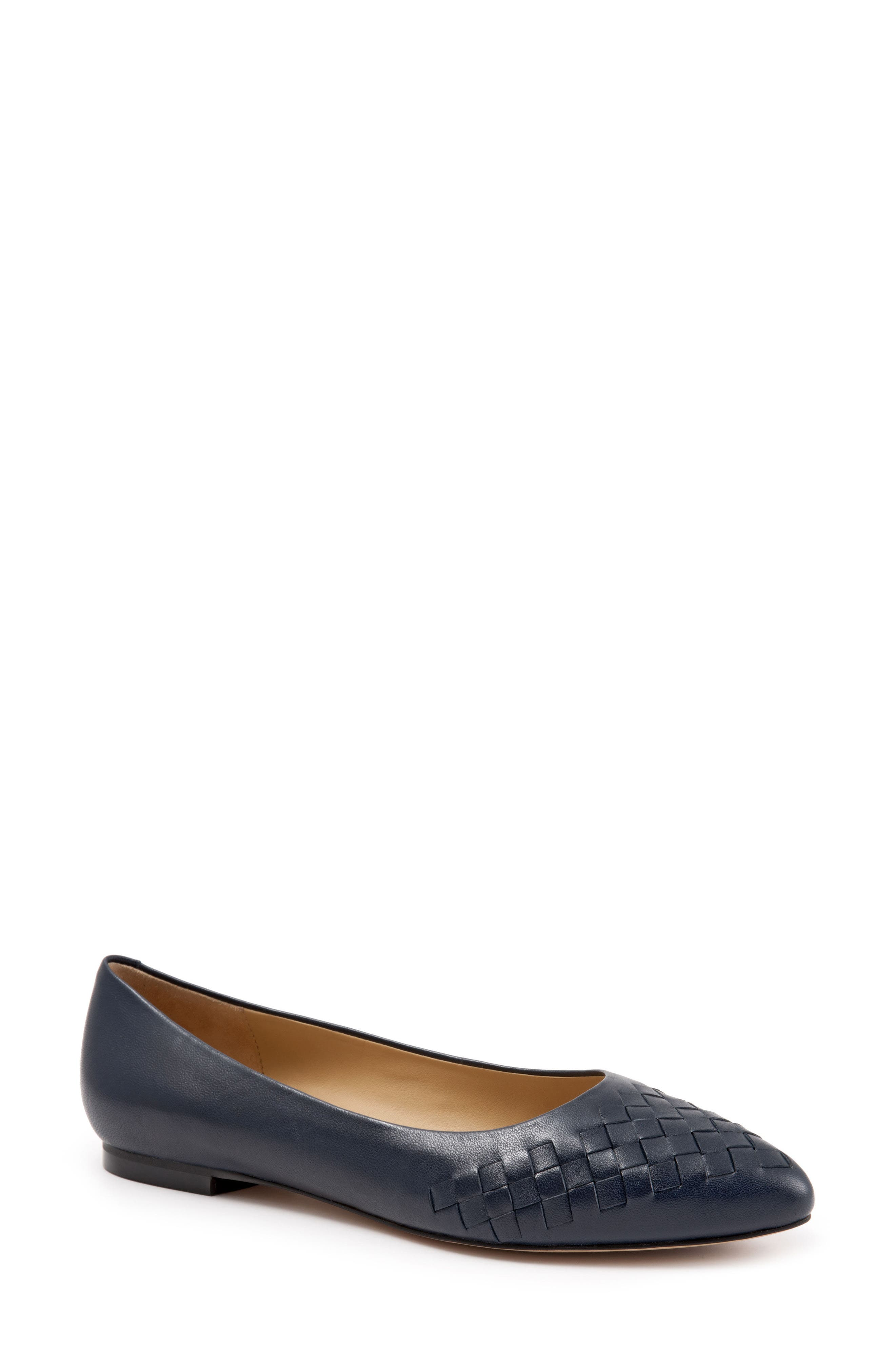 Trotters Estee Pointed Toe Flat, Blue