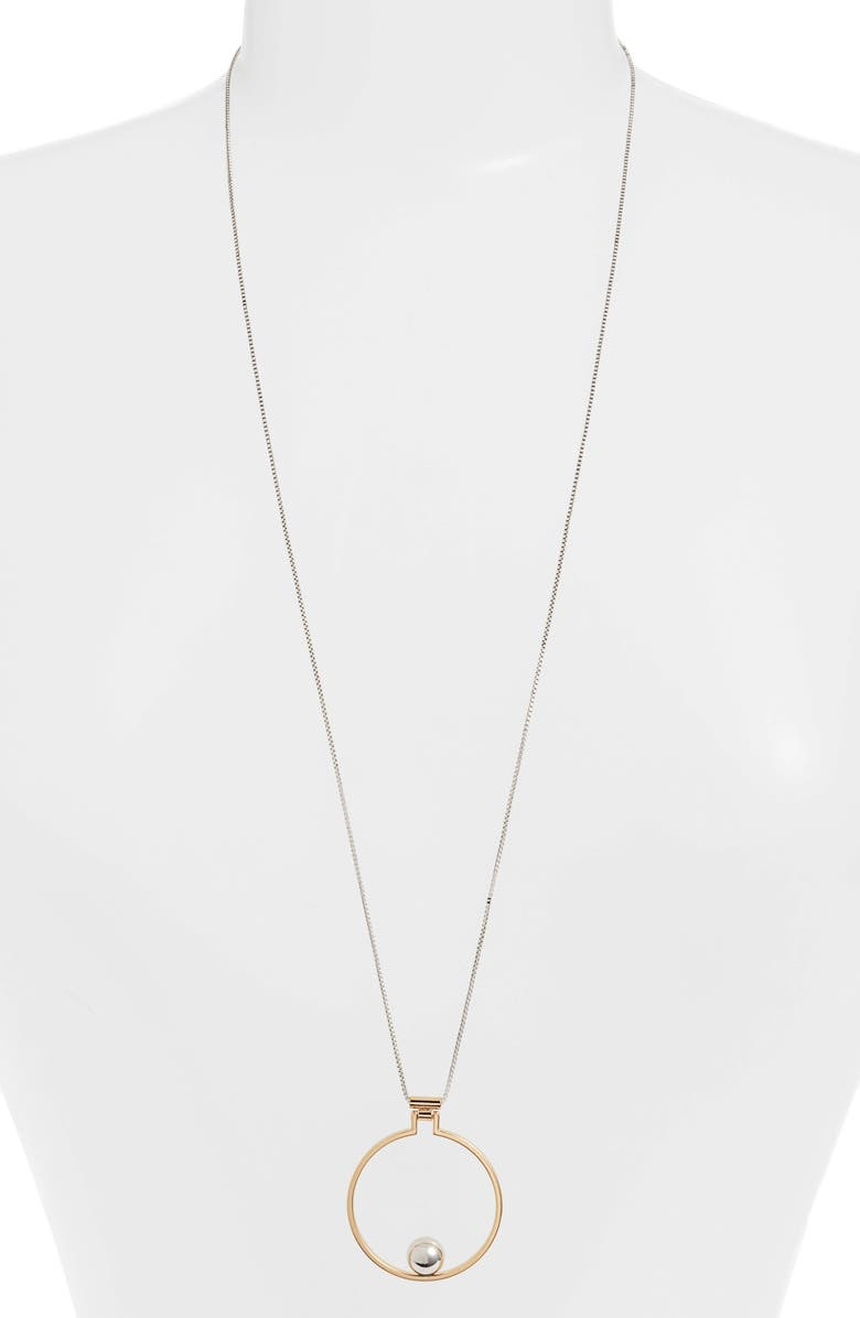 JENNY BIRD Mini Saros Pendant Necklace, Main, color, TWO TONE