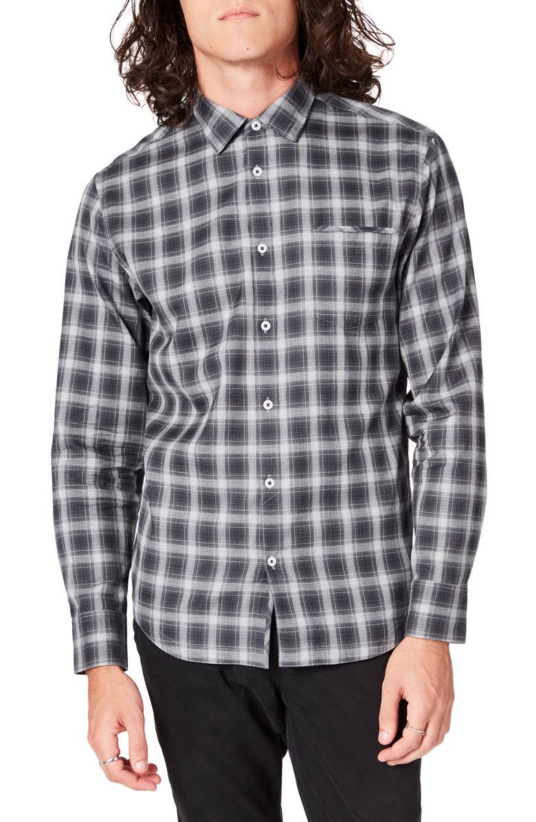 GOOD MAN BRAND On Point Slim Fit Plaid Button-Up Sport Shirt, Main, color, 001