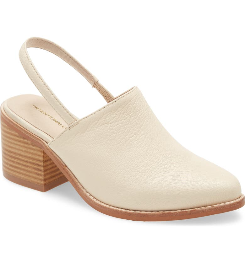 INTENTIONALLY BLANK Erica Slingback Mule, Main, color, CREAM LEATHER