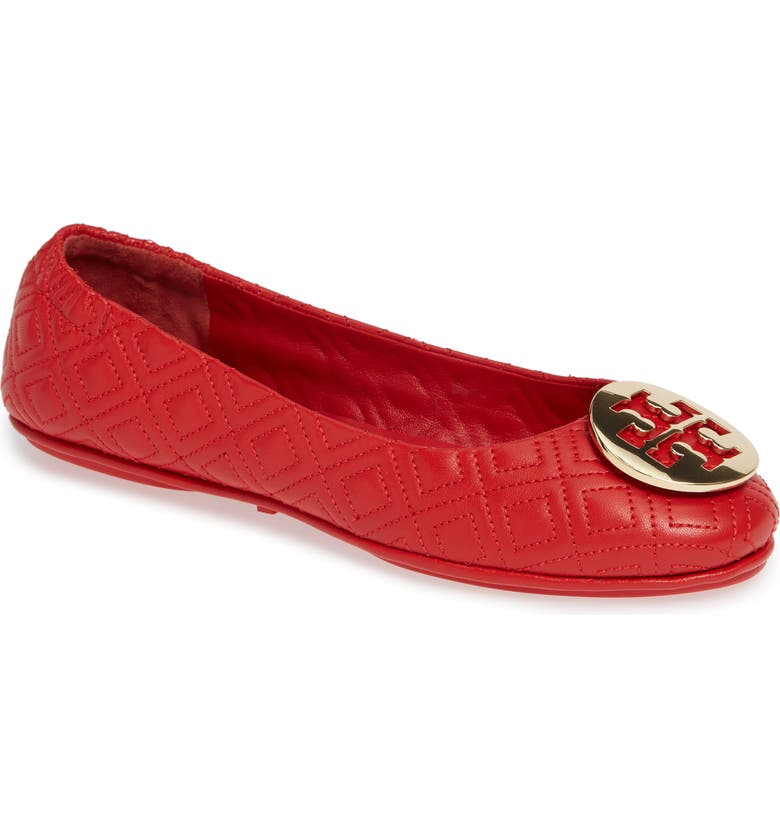 TORY BURCH Quilted Minnie Flat, Main, color, 601