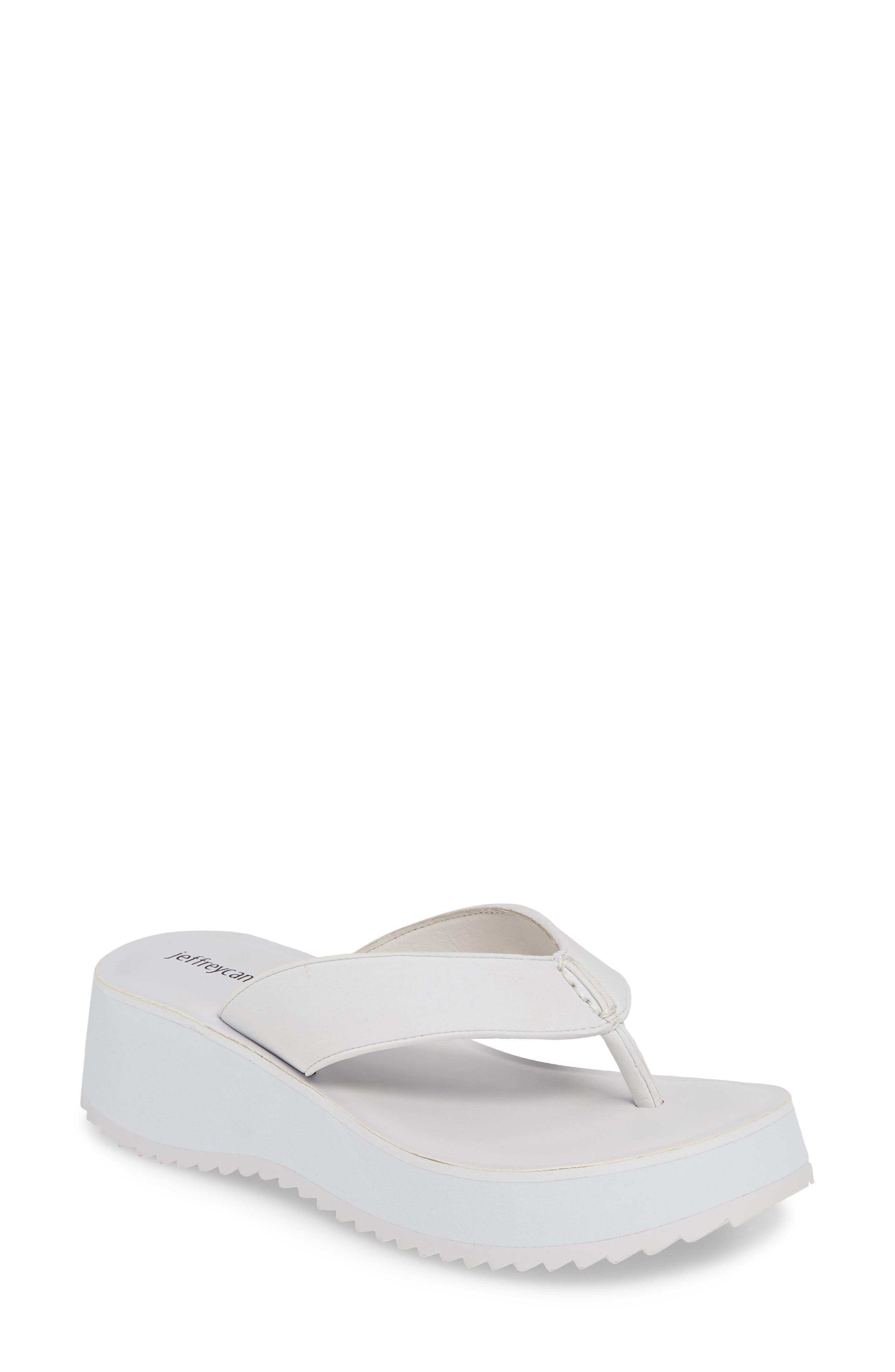 Platform Flip Flop, Main, color, WHITE